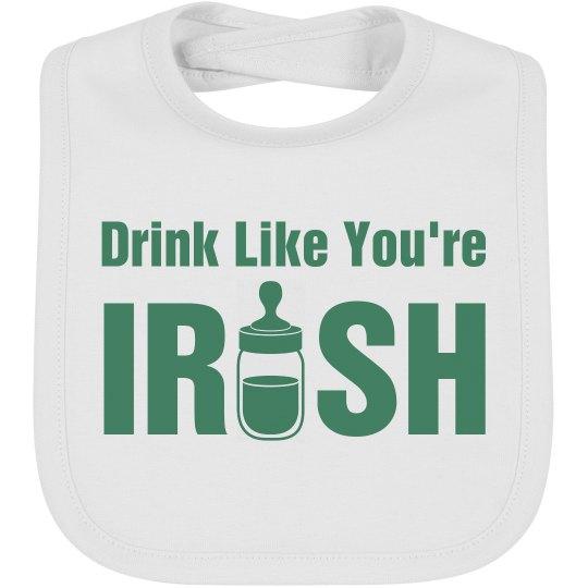 Funny St. Patricks Day Baby Bib