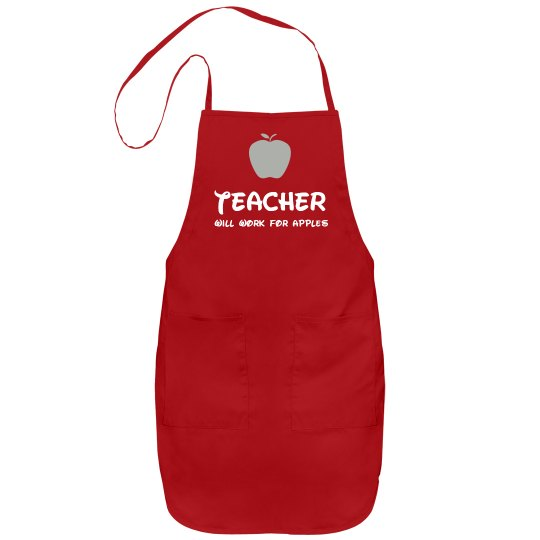 Funny Teacher Gift Apron Port Authority Adjustable Full