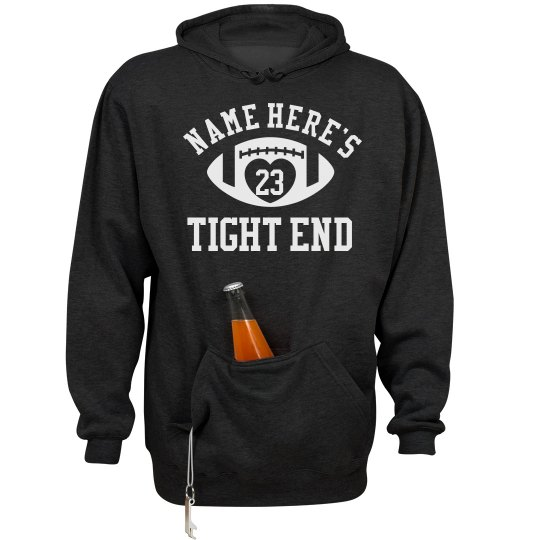Funny Tight End Football Girlfriend Party Hoodie