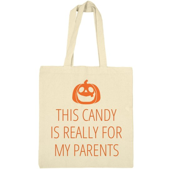 Funny Trick Or Treat Bag Pumpkin