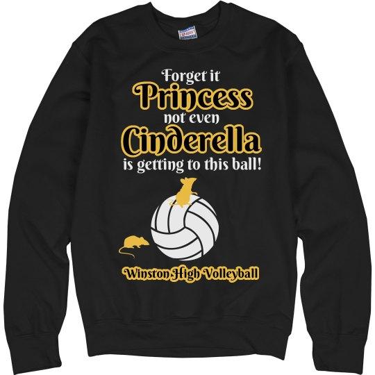 Funny Volleyball Princess Sweatshirt