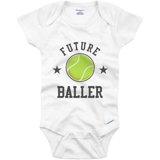 Future Baller Tennis Baby Bodysuit