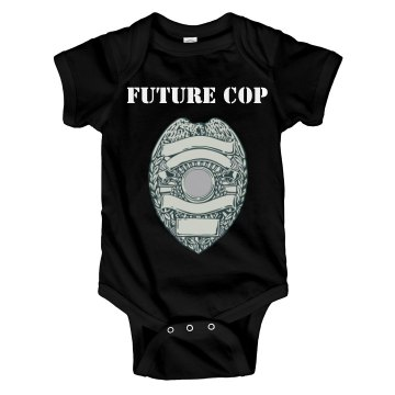 Future Cop Baby One Piece