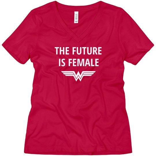 Future is Female Superhero Boyfriend Tee