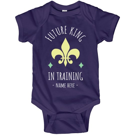 Future King in Training Mardi Gras Bodysuit