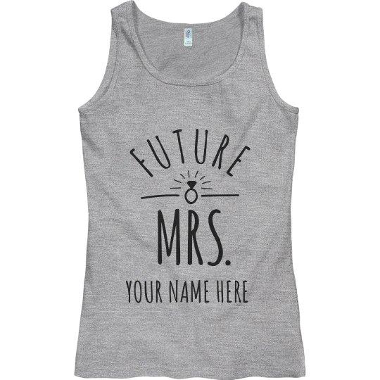 Future Mrs. Name Plus Name Custom Tank