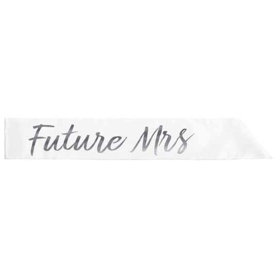 Future Mrs Silver Metallic Text