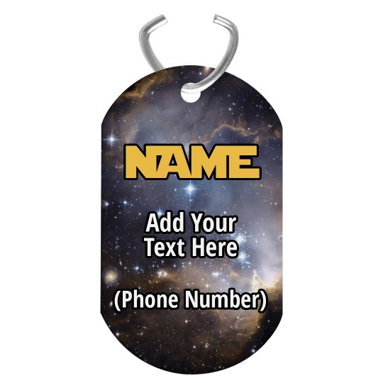 Galaxy Custom Pet Tag