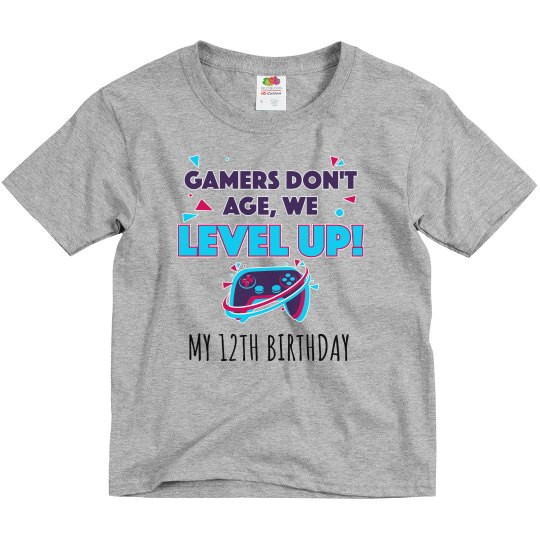 Gamers Don't Age Birthday Kid Tee