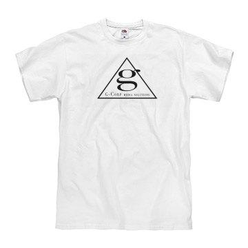GCMS Pyramid Logo WHT Tee