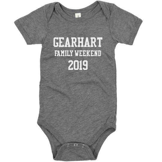 Gearhart Family Weekend Infant Onesie
