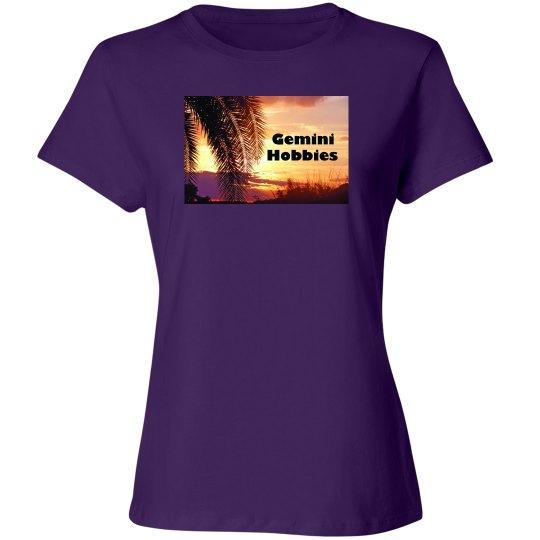 Gemini Hobbies Purple Women's T
