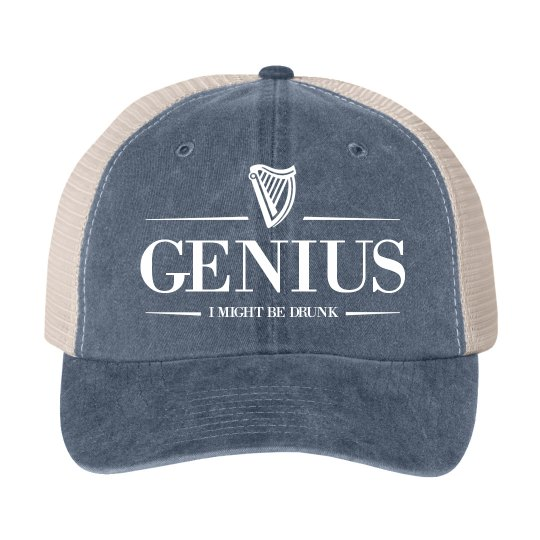 Genius Drunk Irish Drinking Hat