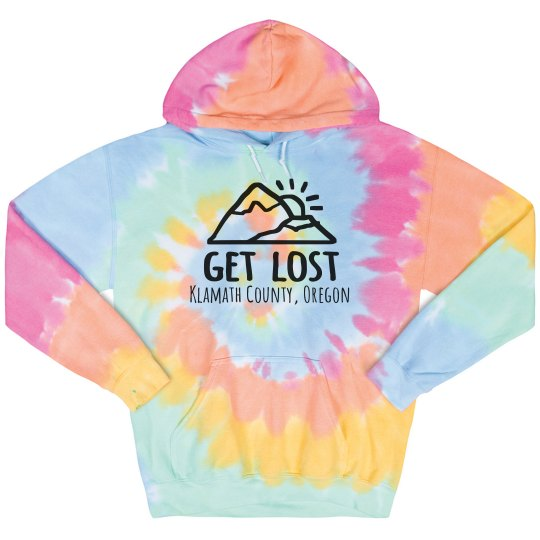 Get Lost Custom City Tie Dye Hoodie