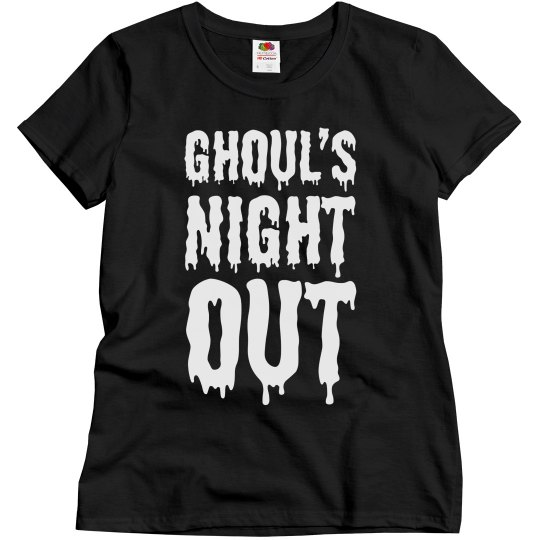Ghoul's night out women's t shirt.