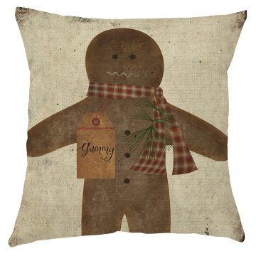 Ginger Bread Man Cookie Pillow Cover