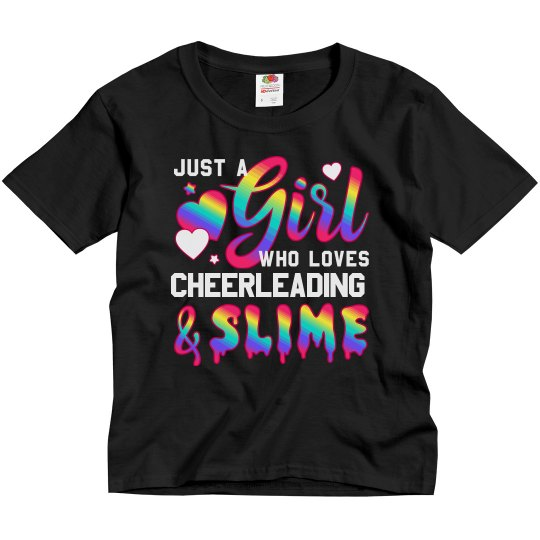 Girl Loves Cheerleading And Slime