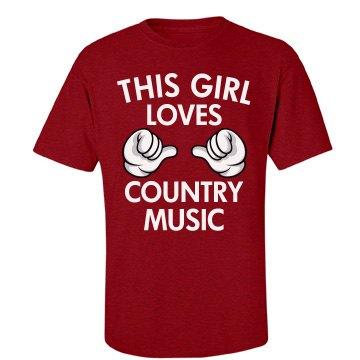 Girl loves country music