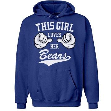 Girl loves her Bears