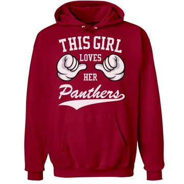 Girl loves her Panthers