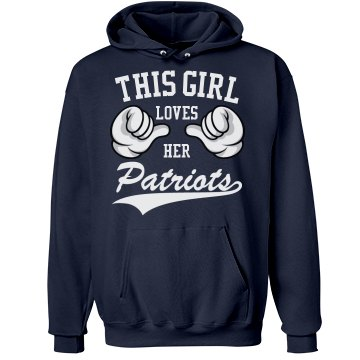 Girl loves her Patriots
