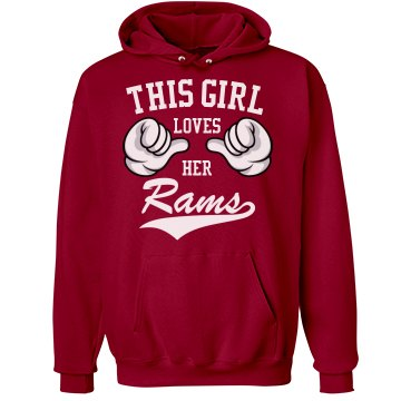 Girl loves her rams