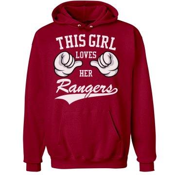 Girl loves her Rangers