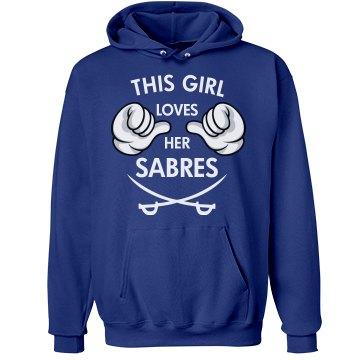 Girl loves her Sabres