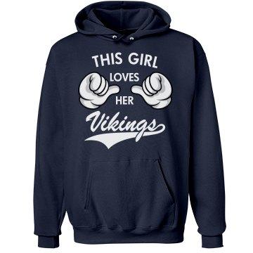 Girl loves her Vikings