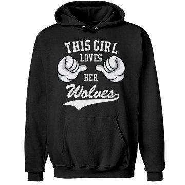 Girl loves her wolves