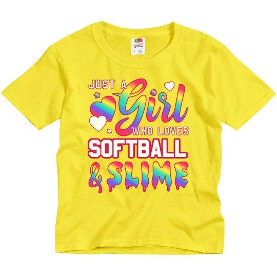 Girl Who Loves Softball And Slime
