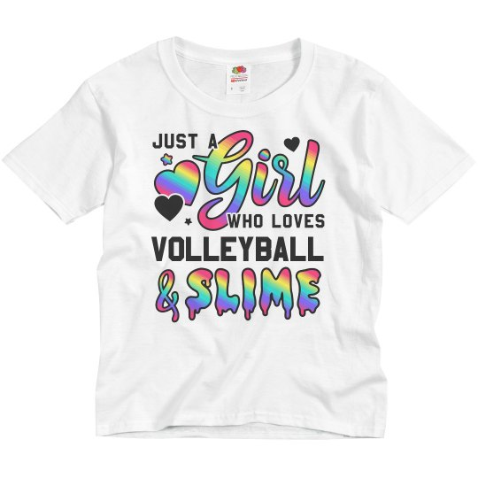Girl Who Loves Volleyball And Slime