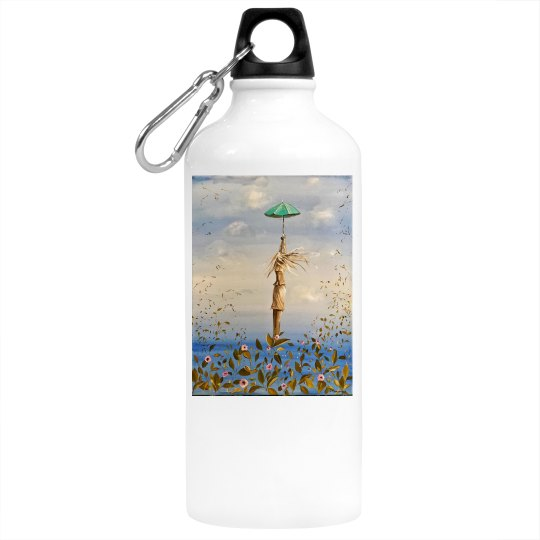 Girl with umbrella (water bottle)
