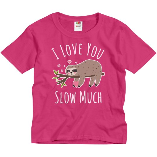 Girls Cute Sloth Valentine's Day