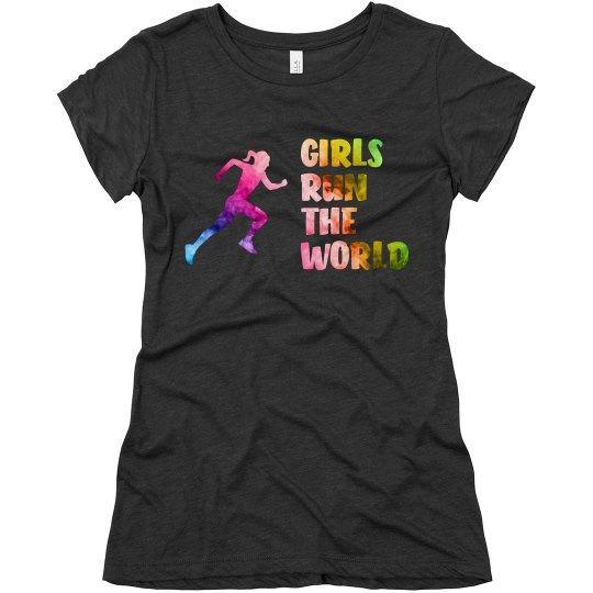 Girls Run The World - Ladies Triblend