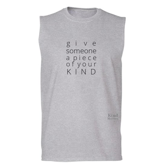 Give a Piece of Mind unisex/mens muscle tee
