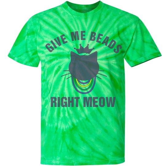 Give Me Beads Right Meow Green
