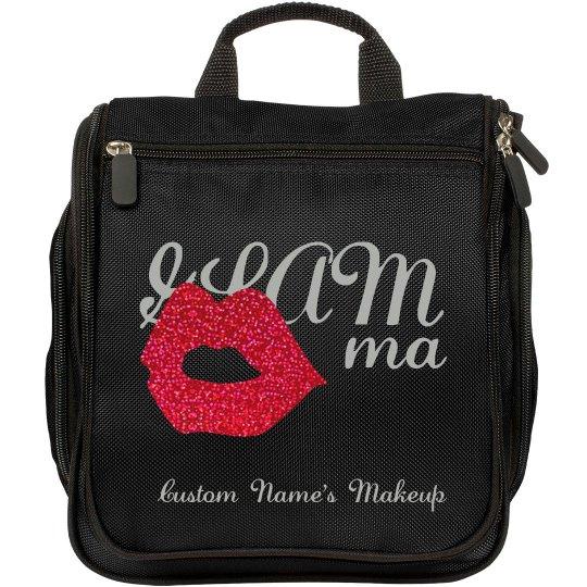 GLAMMa Glam Grandma makeup bag red glitter lips