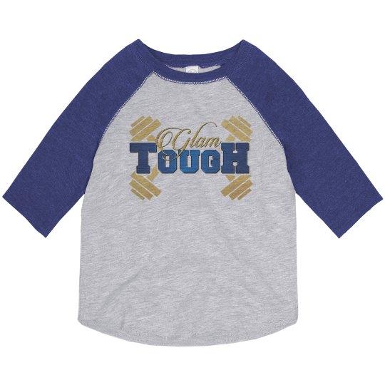 GlamTough Toddler 3/4 sleeve vintage shirt