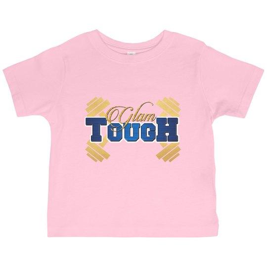 GlamTough Toddler Ruffle Fine Jersey Tee