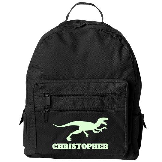 Glow Raptor Kids Dinosaur Backpack