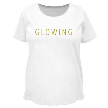 Glowing Gold Maternity Tee