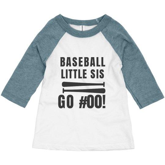Go #00 Custom Baseball Sis Tee