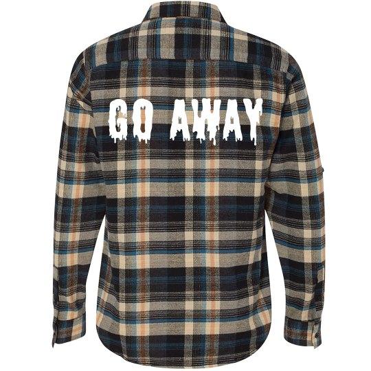 Go Away Flannel Grunge