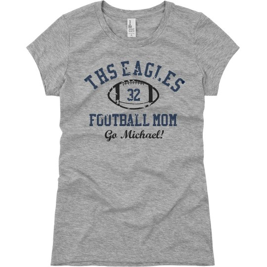 Go eagles football mom ladies slim fit basic promo jersey for Eagles football t shirts