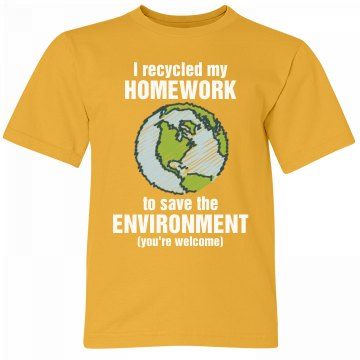 Go Green & Recycle Homework