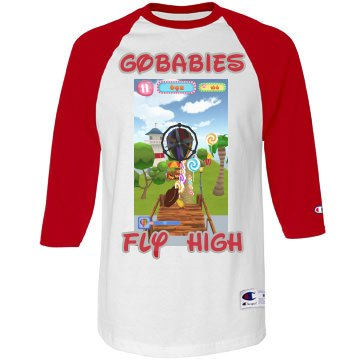 GOBABIES CHAMPION 3/4 SLEEVE TEE