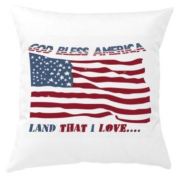 God Bless America Land That I Love pillow cover