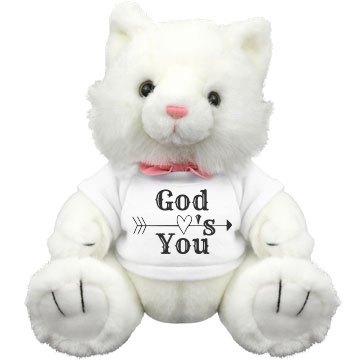 God Love's You Stuffed Kitty Cat