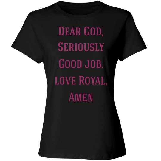 Going Commando, Royal's Prayer 2